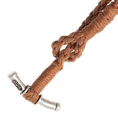 Мужской плетеный чокер из крепкой хлопчатобумажной нити для кулонов, подвесок, крестов