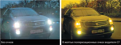 Очки для водителя с желтыми линзами в темное время суток Cafa France