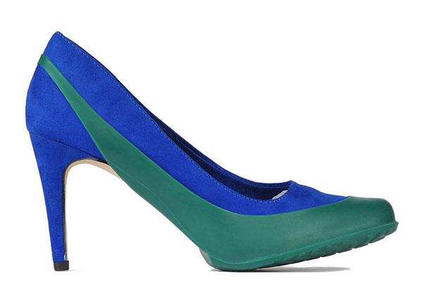 Женские галоши открытые под каблук -новая практичная тенденция в мире моды резиновой обуви