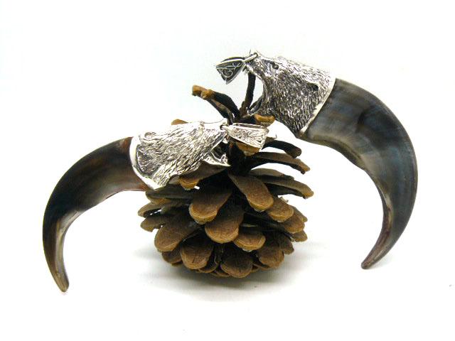 Кулон-амулет коготь медведя серебро 10см Ручная эксклюзивная работа оригинальный подарок парню, мужчине Новый год, день рождения, 23 февраля, юбилей