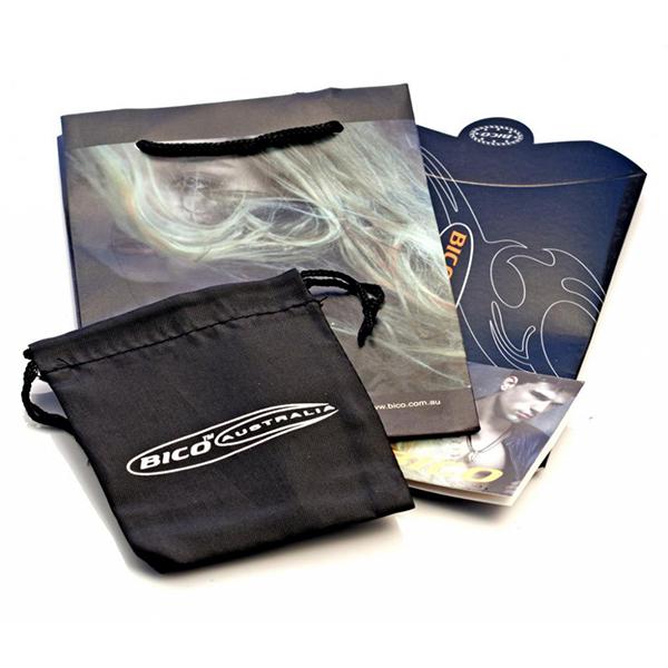 предлагаемая подарочная упаковка Bico - тканевый мешочек, пластиковый пакет, картонная коробка - аля-макдональдс