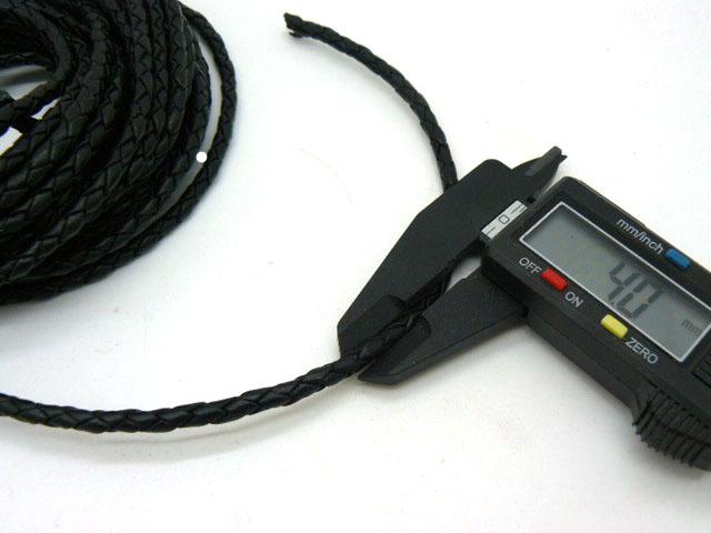 Натуральный плетеный кожаный шнур диаметром 4 мм для изготовления чокера браслета шнура на шею для ожерелей высокого качества
