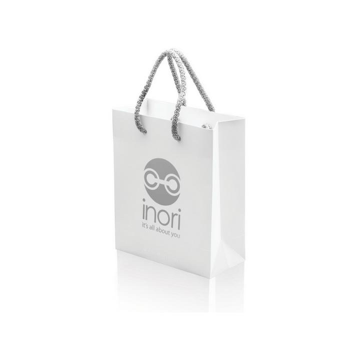 Красивый белоснежный пакет для мужских украшений Inori  из стали