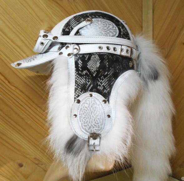 Шапка Пилот с очками с мехом арктической лисы шапка-ушанка для мужчины, парня вид спереди