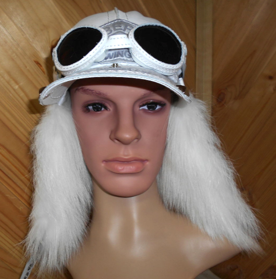 Шапка Пилот с очками с мехом арктической лисы шапка-ушанка для мужчины зима, парня демонстрация меха