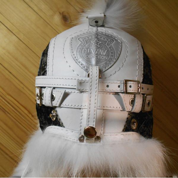Шапка Пилот с очками с мехом арктической лисы шапка-ушанка для мужчины зима, парня вид сбоку