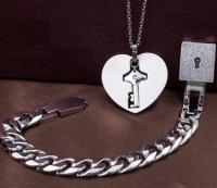 """Парные комплект- кулон и браслет """"Замок-ключ"""" вид 3"""