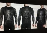 """Лонгслив (футболка)  длинный рукав """"Воющий волк"""""""