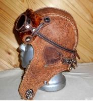 Шапка-ушанка Пилот с очками с мехом овчины BORN BRAUN5