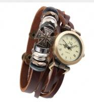 Часы с браслетом крест на кнопках