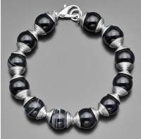 Массивный браслет из натуральных камней агата  Rico La Cara 3165