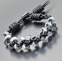 Браслет в стиле Chan Luu, из стальных гаек 10 mm 4148