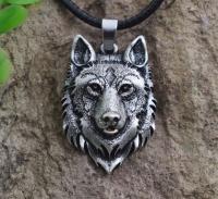 """Кулон  """"Волк-WOLF"""" сталь"""
