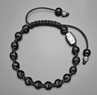 Браслет шамбала из черного марблита Rico La Cara 5187