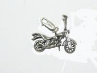 "Подвеска кулон ""Мотоцикл Harley-Davidson"" серебро"