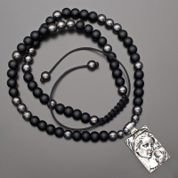 Бусы, ожерелье из шунгита, гематита с подвеской  Богородица с младенцем Rico la Сara 2194