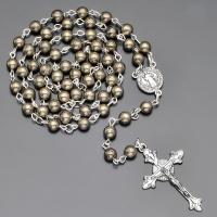 Бусы, ожерелье, розарий из пирита с крестом  Rico la Сara 0184