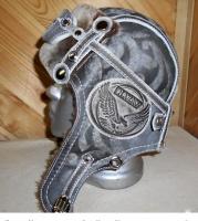 Шапка-ушанка Пилот с очками с мехом овчины EAGLE
