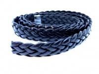 Плоский плетеный кожаный шнур  шириной 15 мм толщиной 3 мм