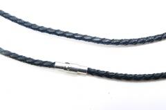 Чокер кожаный плетеный 3 мм с магнитной застежкой