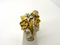 Кольцо серебро Бабочка в.4