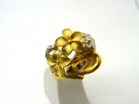 Кольцо серебро Цветы