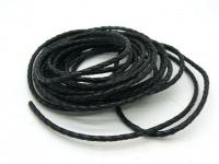 Шнур кожаный плетеный толщиной 3 мм