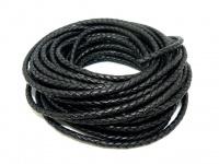Шнур кожаный плетеный толщиной 5 мм