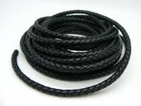 Шнур кожаный плетеный толщиной 6 мм