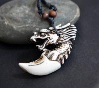 Кулон-амулет клык дракона W