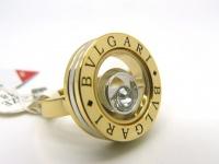 Кольцо из стали позолота BVLGARI