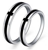 Кольца обручальные из серебра, агата парные OK-6