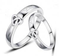 Кольца обручальные из серебра парные OK-18