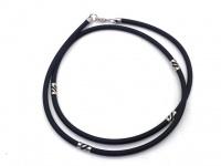 Чокер шнур каучуковый 3 мм серебро 230