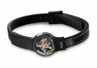 Кожаный браслет   SjW  с часовым механизмом из стали LB026