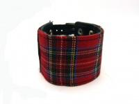 """Широкий кожаный браслет """"Шотландская клетка"""" сталь  KB-150"""