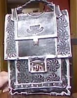 Портфель из натуральной кожи с тиснением формата A4