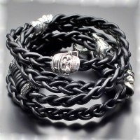 Кожаный плетеный браслет Rico La Cara 3121