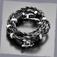 Кожаный плетеный браслет Rico La Cara 3126