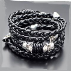 Кожаный плетеный браслет Rico La Cara 3128