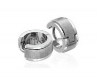 Серьги стальные с потертой поверхностью Артикул: INER24A