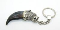 Брелок с когтем медведя серебро 925
