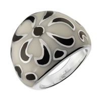 Кольцо из стали с эмалью SJW арт.RS037