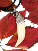 Кулон-амулет-оберег клык медведя  серебро N