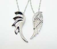 Парные кулоны сталь  Крылья Wings