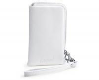 Сумочка для телефона из белой кожи