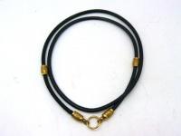 Чокер, шнур, гайтан на шею православный бронза позолота кожа-питон 4 мм