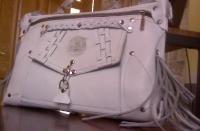 Кожаная сумка белая