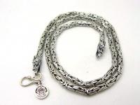 Цепочка византия с драконами серебро