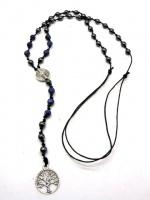 Мужское ожерелье из бус гематита содалита